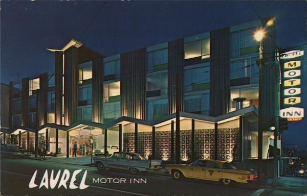 laurel motor inn san francisco ca postcard