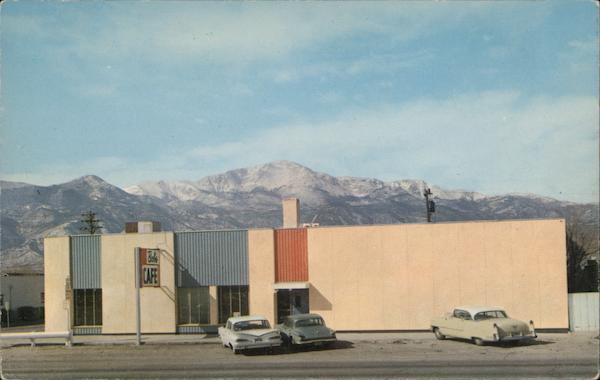 Bobs Cafe with View of Pikes Peak Colorado Springs