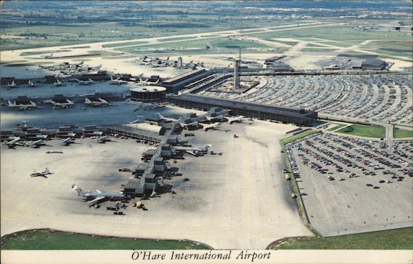 O'Hare International Airport Aerial View Chicago Illinois