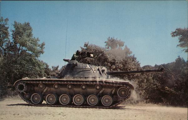 M-48 Tank in Action Fort Hood Texas