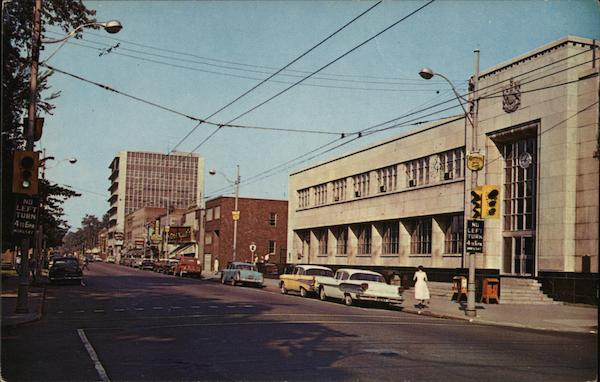Second Street Looking West Cornwall Canada Ontario