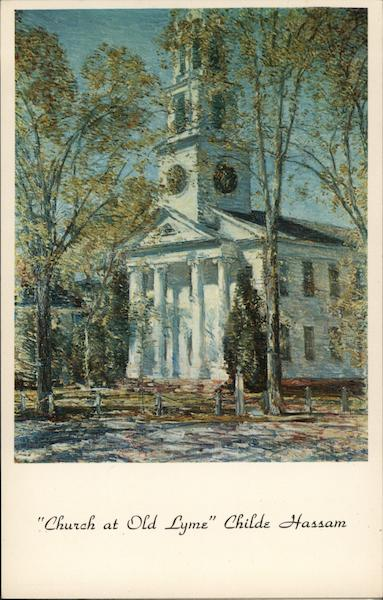 Church at Old Lyme Childe Hassam Southampton New York