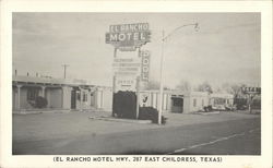 El Rancho Motel, Hwy. 287 East