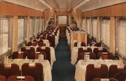 "Dining Car on Southern Pacific's new ""Shasta Daylight"""