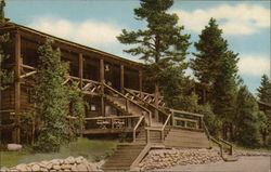 Grand Lake Lodge, Overlooking Grand Lake at Western Entrance Postcard