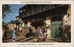 Old New Orleans in Chicago - Chicago Railroad Fair Postcard