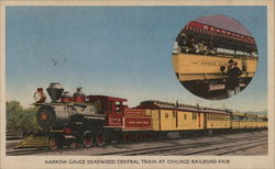 Narrow-Gauge Deadwood Central Train At Chicago Railroad Fair