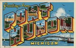 Greetings from Port Huron Postcard