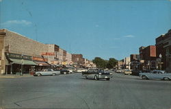Wisconsin Avenue facing East Tomahawk, WI Postcard
