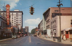 Business District of Warren, Ohio Postcard