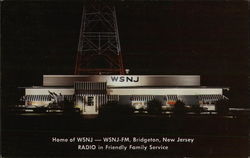 WSNJ Radio Station Postcard