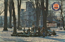 Christmas Greetings - Woodstock City Square Postcard