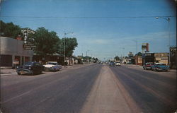 Street View U. S. Highway 66 Thru Tucumcari Postcard