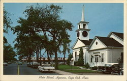 Main Street and First Baptist Church Postcard