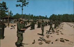 Women basic Trainees with M-16 Rifles Fort Jackson, SC Postcard