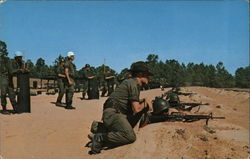 Trainees on Range 10 Fort Jackson, SC Postcard