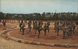 Hand-To-Hand Combat Training Fort Jackson, SC Postcard