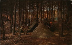 Typical Bivouac Scene at Fort Dix