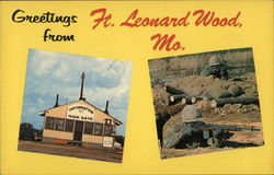Greetings from Ft. Leonard Wood, Mo. Postcard