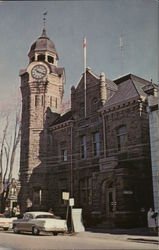 Post Office and Town Clock Postcard