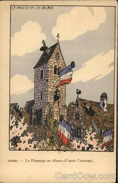 Hansi - Spring in Alsace (according printmaking) France