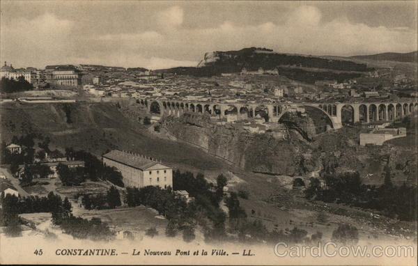 Constantine - the new port and the city French Algeria