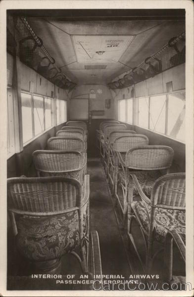 Interior of an Imperial Airways Passenger Aeroplane Princess Mary