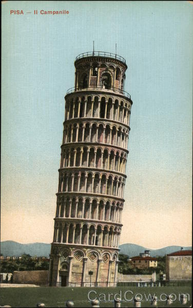 Il Campanile - Leaning Tower Pisa Italy