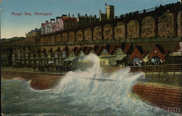 Rough Sea and Esplanade Ramsgate England Kent