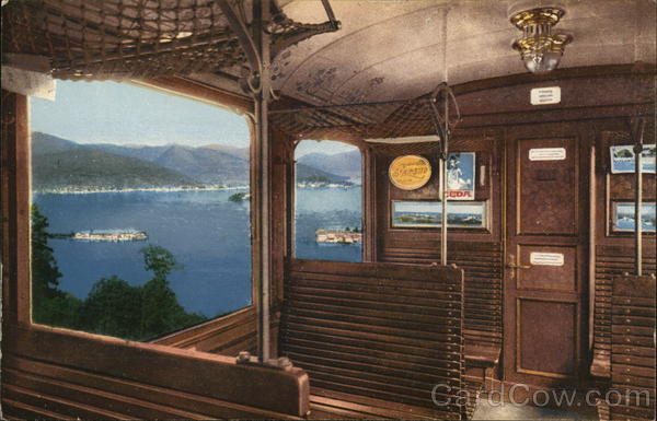 Interior View,  The train to Monte Mottarone Italy