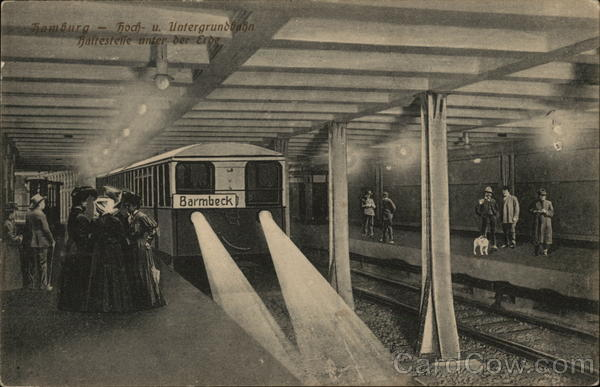 Underground Station Hamburg Germany