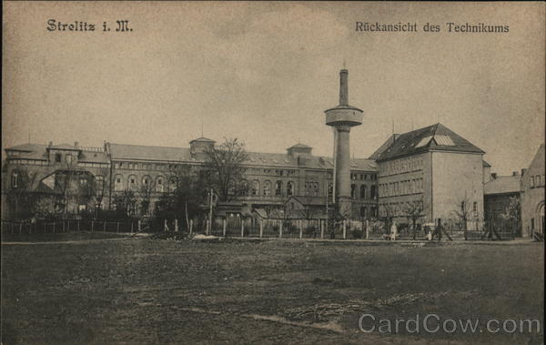 Strelitz i. M. : Rueckansicht des Technikums (Rear view of the Technical College) Germany