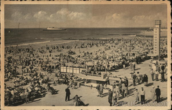 Promenade and Beach Ostend Belgium Benelux Countries