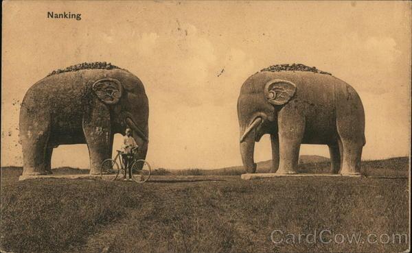 Stone Elephants near Ming Tomb