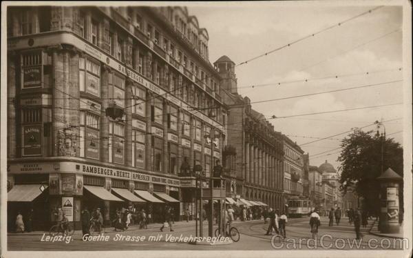 Leipzig. Goethe Strasse mit Verkehrsregier