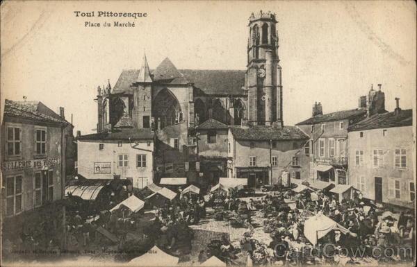 Toul, picturesque town, Market Square