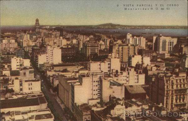 Aerial View of City Montevideo Uruguay