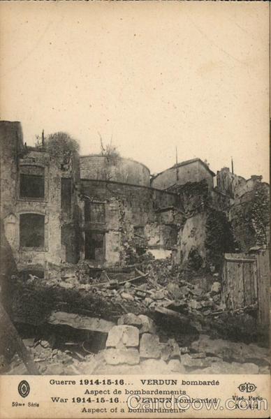 Verdun after the Bombardment