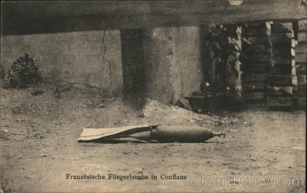 Franzoesische Fliegerbombe in Conflans