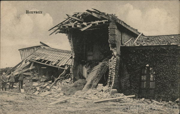 Ronvaux in Ruins France World War I