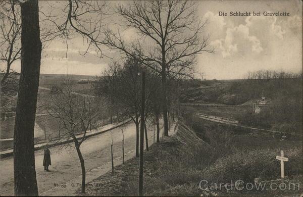 Die Schlucht bei Gravellotte - The Mance Ravine, Gravellotte
