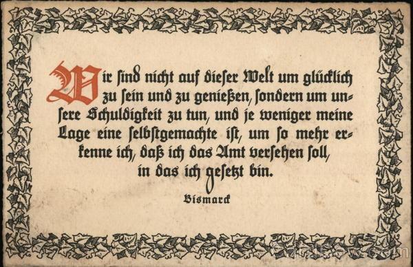 Quote About Duty by Otto von Bismarck
