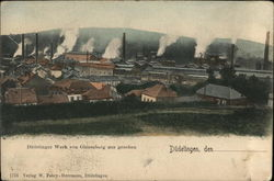 Factories in Düdelingen, seen from the Ginzenberg