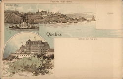 Quebec City and Chateau Frontenac Hotel