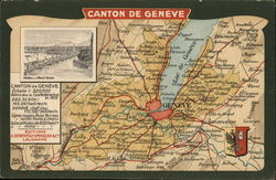 Map of Canton of Geneva, Switzerland