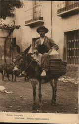 Milk Seller on a Donkey