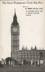 The Great Westminister Clock ( Big Ben)
