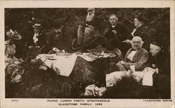 Picnic Lunch Party, Strathardle - Gladstone Family 1893