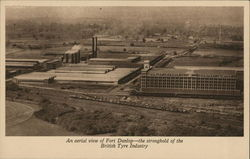 An aerial view of Fort Dunlop - the stronghold of the British Tyre Industry Postcard