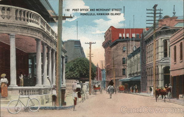Post Office and Merchant Street Honolulu Hawaii
